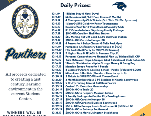 2019-2020 Panther Raffle Going On Now!