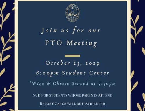 PTO Meeting 10.23.19 at 6PM